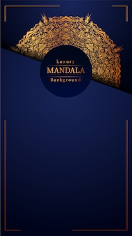 Luxury golden mandala