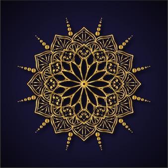 豪華な黄金の曼荼羅