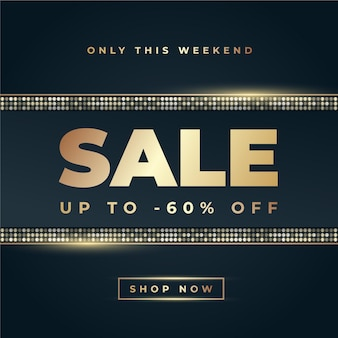 Luxury golden mega sale background