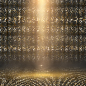 Luxury golden mosaic backdrop