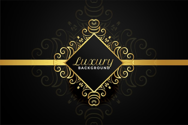 Luxury golden ornamental background design