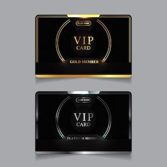 Luxury golden and platinum vip member card design template