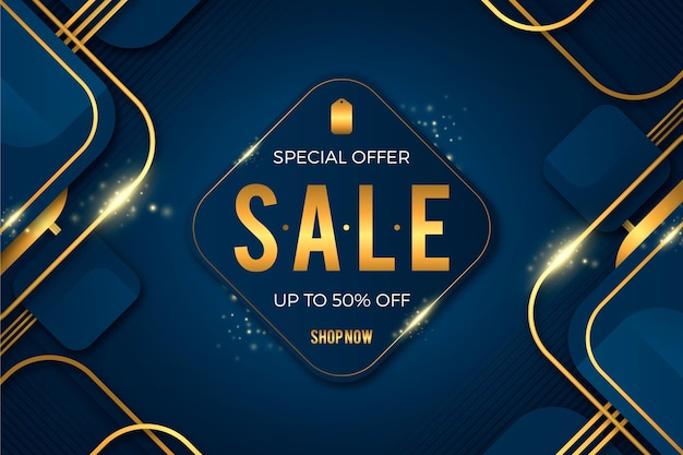 Luxury golden sale background