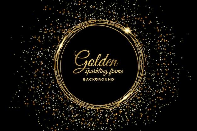 Luxury golden sparkling frame background