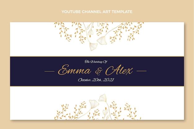 豪華な黄金の結婚式のユーチューブチャンネル