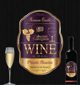 Luxury golden wine label