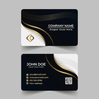 Luxury gradientbusiness cards