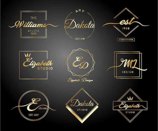 Luxury gradient gold logo