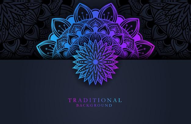 Luxury gradient mandala background template
