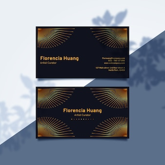 Luxury gradient yellow visit business card