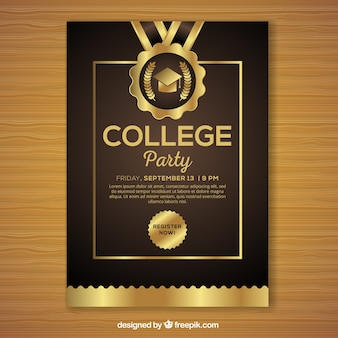 Luxury graduation party poster