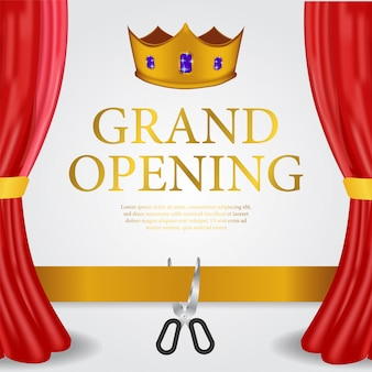 Luxury grand opening banner template