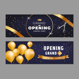 Luxury grand re-opening banner template