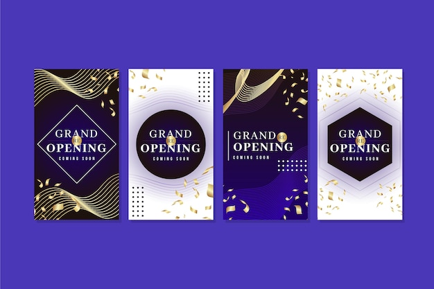 Luxury grand re-opening instagram stories