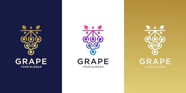 Luxury grape logo inspiration