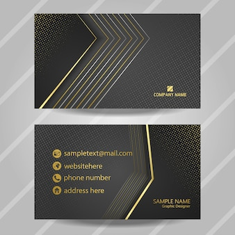 Luxury gray business card with glitter