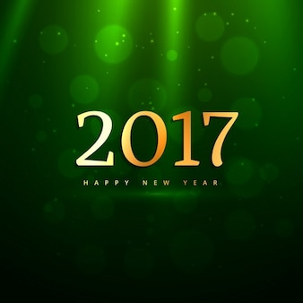 Luxury green background with bubbles for new year