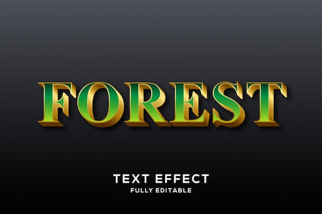 Luxury green & gold text effect