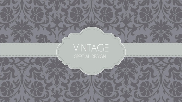 Luxury grey retro ornamental background