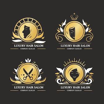 Роскошная коллекция логотипов парикмахерской