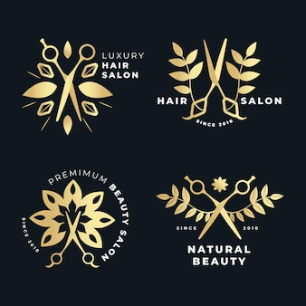 Luxury hair salon logo collection