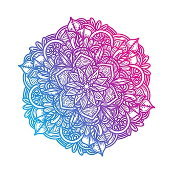 Luxury hand draw floral mandala  ornament