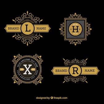 Luxury hand drawn logos with letter