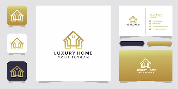 Luxury home logo and business card