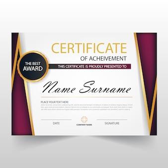 Luxury horizontal certificate design