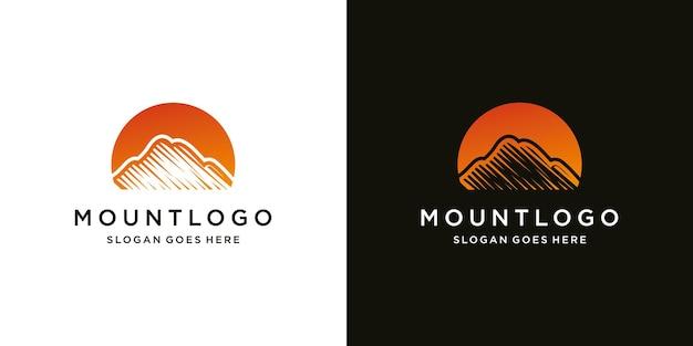 豪華なアイコンテンプレートモダンな山のロゴデザイン