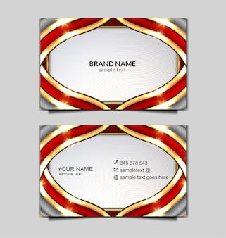 럭셔리 독립 비즈니스 카드 템플릿 디자인