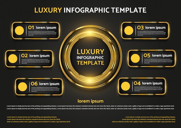 Luxury infographic template graphic