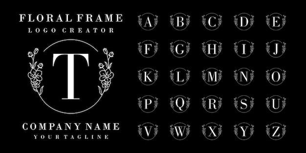 Luxury initial badge logo design
