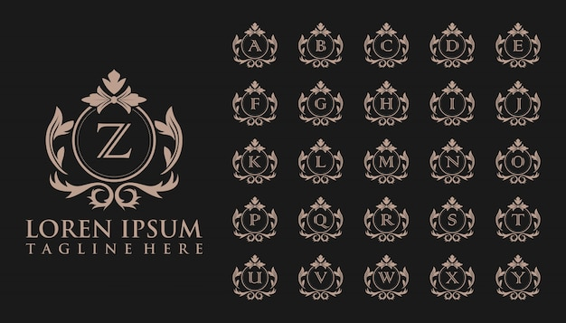 Luxury initial badge logo, template