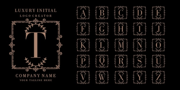 Luxury initial logo design