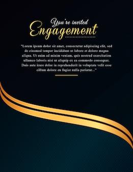 Luxury invitation card background
