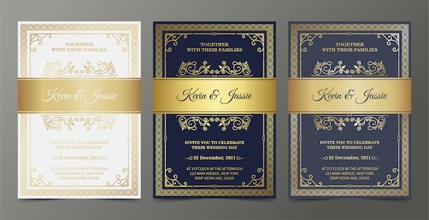 Роскошный пригласительный билет дизайн винтажный стиль