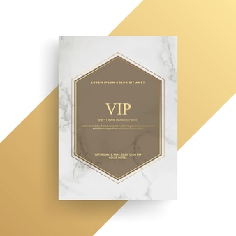 Luxury invitation card design with golden texture, gold card template