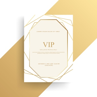 Luxury invitation card with golden texture