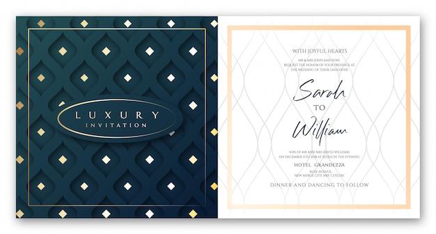 Luxury invitation greenish blue