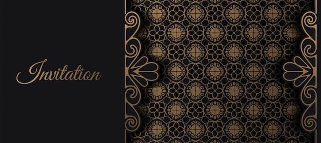 Роскошное приглашение sornamental pattern