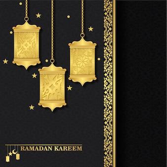 Luxury islamic lantern background ramadan kareem