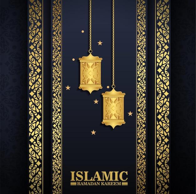 Luxury islamic lantern background