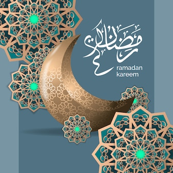 Luxury islamic ramadan greeting illustration template