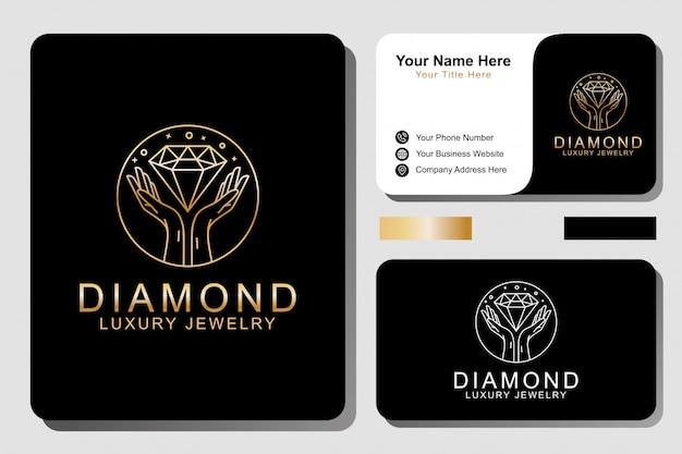 Luxury  jewelery logo and business card