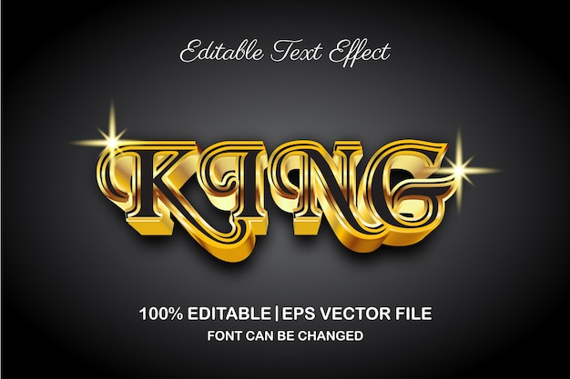 Luxury king editable text effect 3d style
