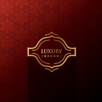 Luxury label in red background