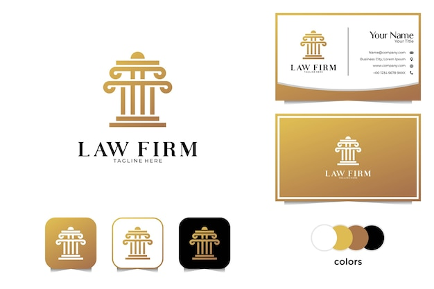 Luxury law firm logo design and business card