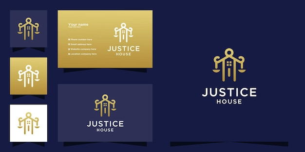 Luxury law house logo template