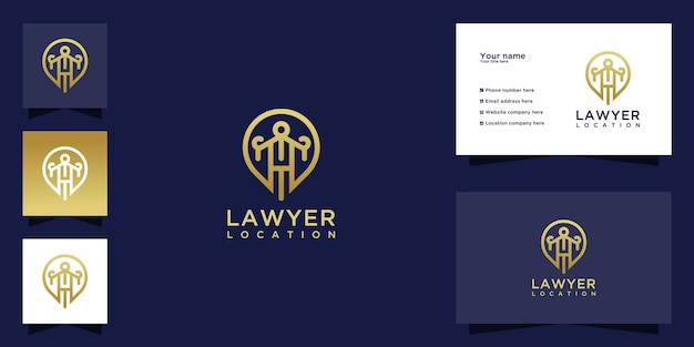 Luxury law location logo and business card